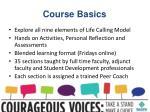 course basics1