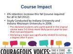 course impact