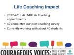 life coaching impact