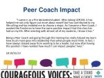 peer coach impact