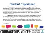 student experience