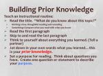 building prior knowledge