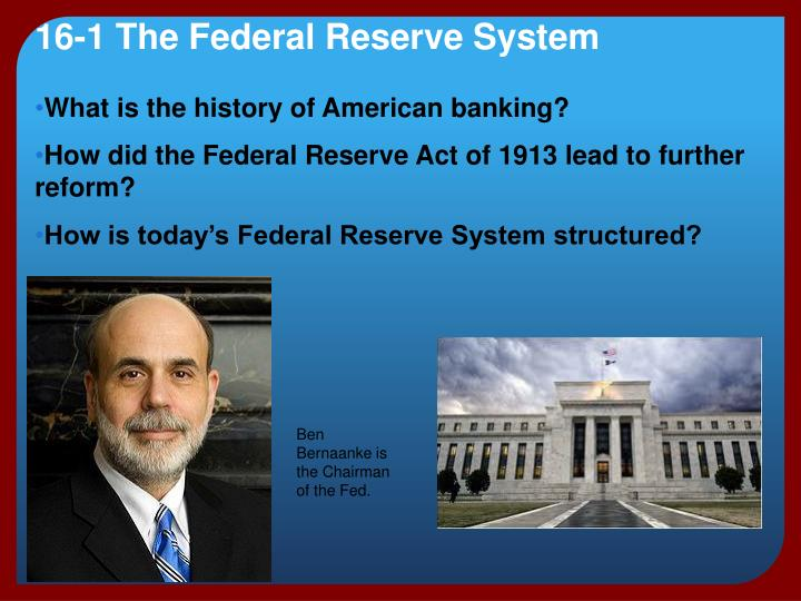 16 1 the federal reserve system n.