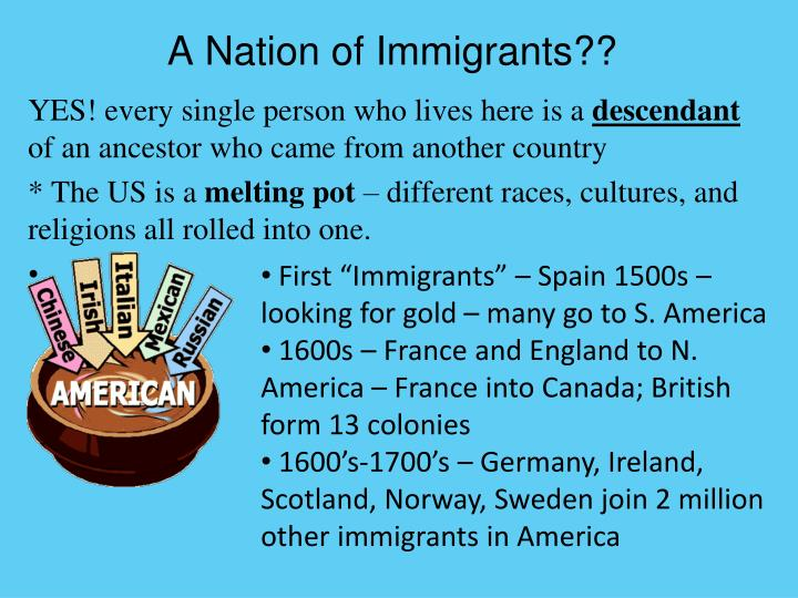 A Nation of Immigrants??