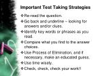 important test taking strategies