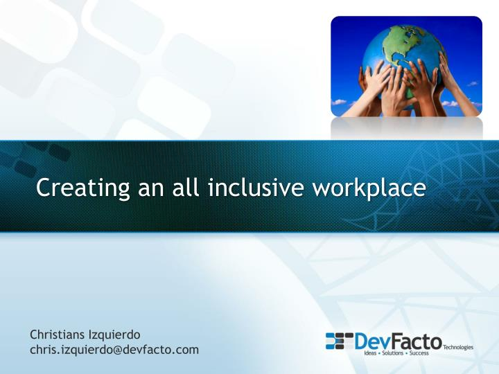 creating an all inclusive workplace n.