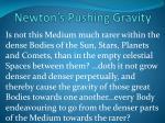 newton s pushing gravity