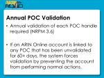 annual poc validation