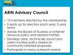 arin advisory council