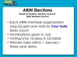 arin elections board of trustees advisory council nro number council