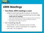 arin meetings