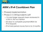 arin s ipv4 countdown plan