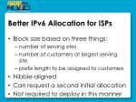 better ipv6 allocation for isps