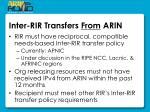 inter rir transfers from arin