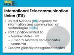 international telecommunication union itu