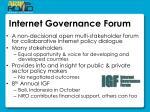internet governance forum