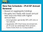 new fee schedule ipv4 isp annual renewal