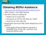 obtaining restful assistance