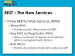 rest the new services