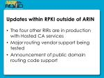 updates within rpki outside of arin