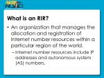 what is an rir