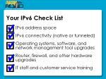 your ipv6 check list