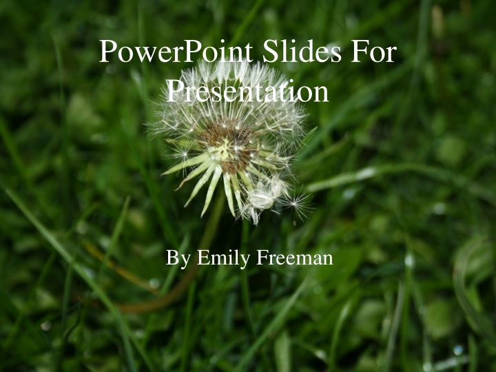 powerpoint slides for presentation n.