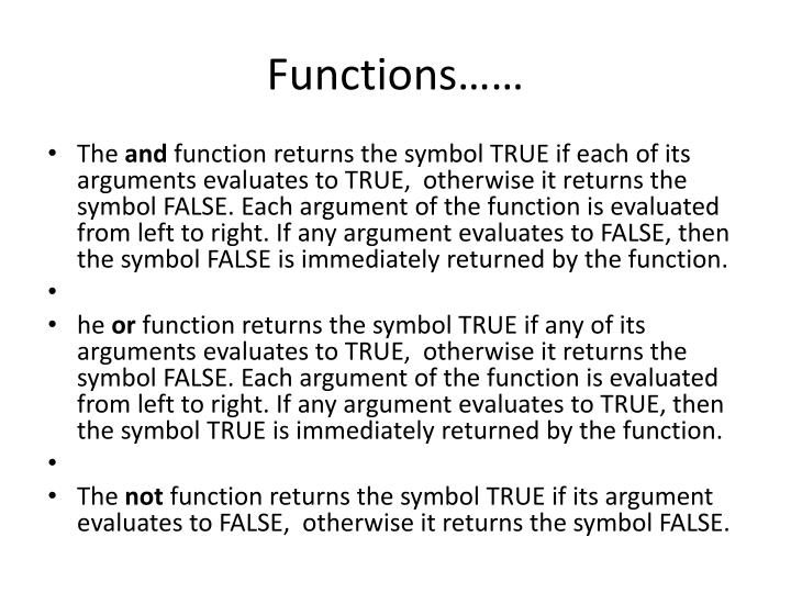 Functions……