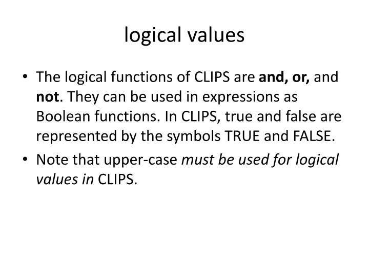 logical values