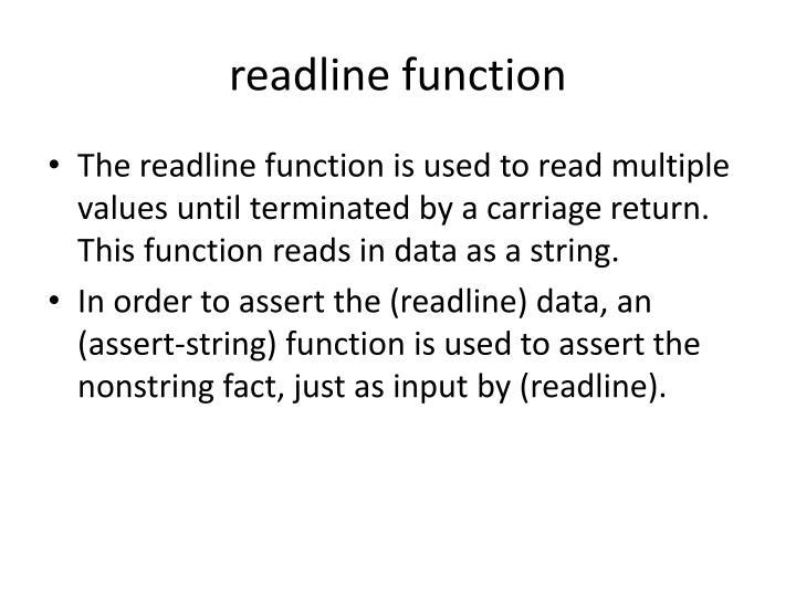 readline