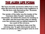 the alien life form