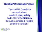 quickmar caresuite value