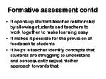 formative assessment contd