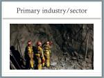 primary industry sector