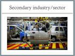 secondary industry sector