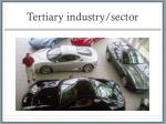 tertiary industry sector
