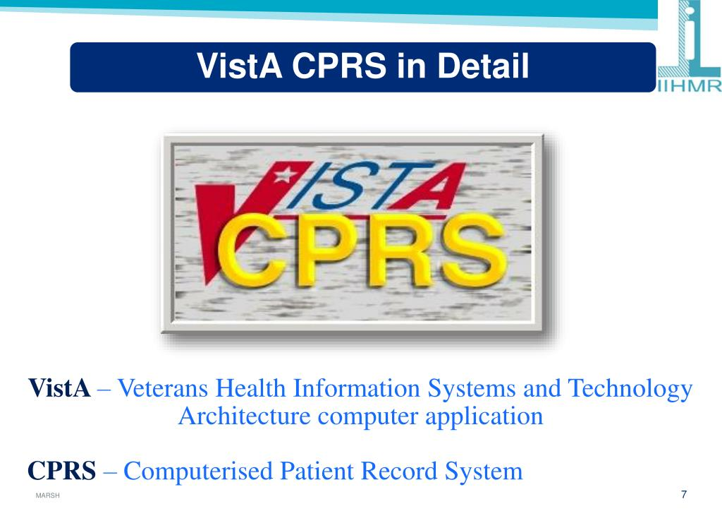 PPT - To Study The Functioning Of VistA CPRS Project