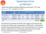 systematic errors at 500 gev