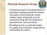 pesticide research group