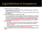 legal definition of competency