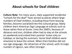 about schools for deaf children