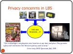privacy concenrns in lbs