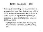 notes on japan ltc
