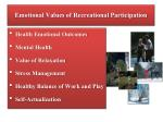 emotional values of recreational participation