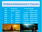 thailand achievement in tourism