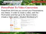 powerpoint to video conversion