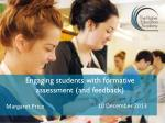engaging students with formative assessment and feedback