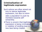 criminalization of legitimate expression2