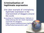 criminalization of legitimate expression3