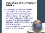 imposition of intermediary liability